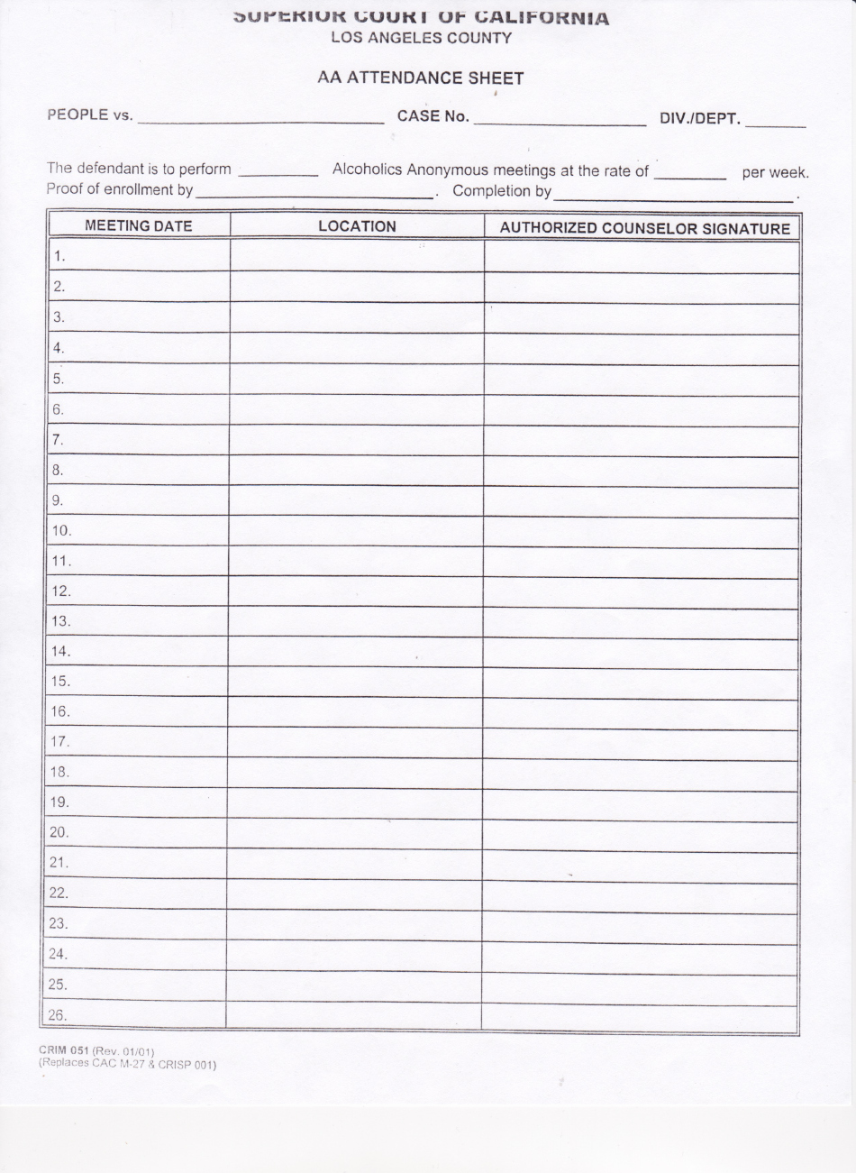Aa Sign In Sheet Lovely Aa Meeting Sign In Sheet for Court