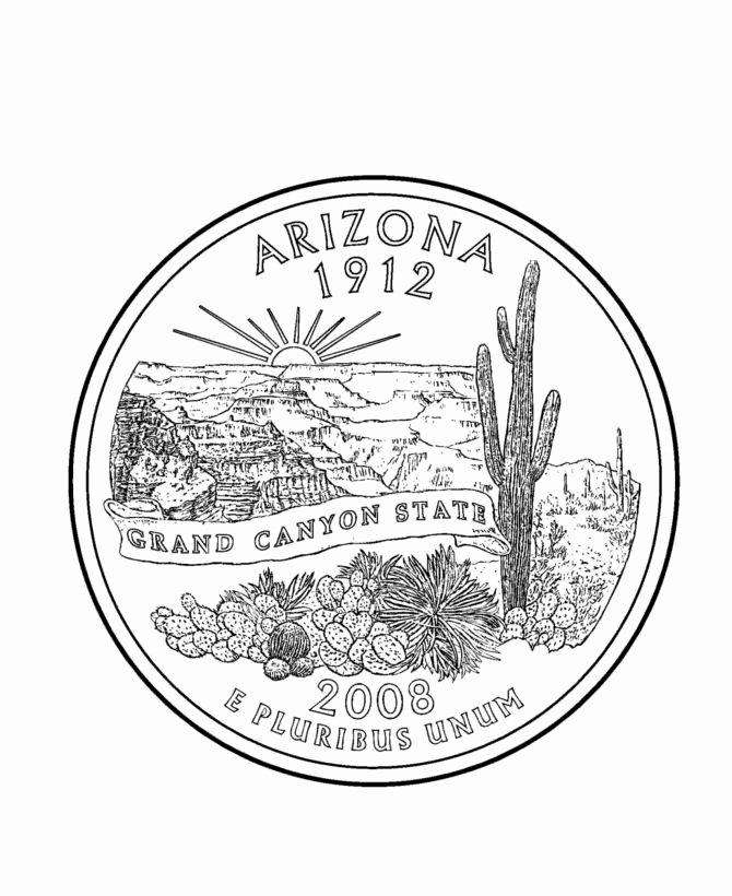 Aa Sign In Sheet Michigan Beautiful Arizona State Quarter Coloring Page