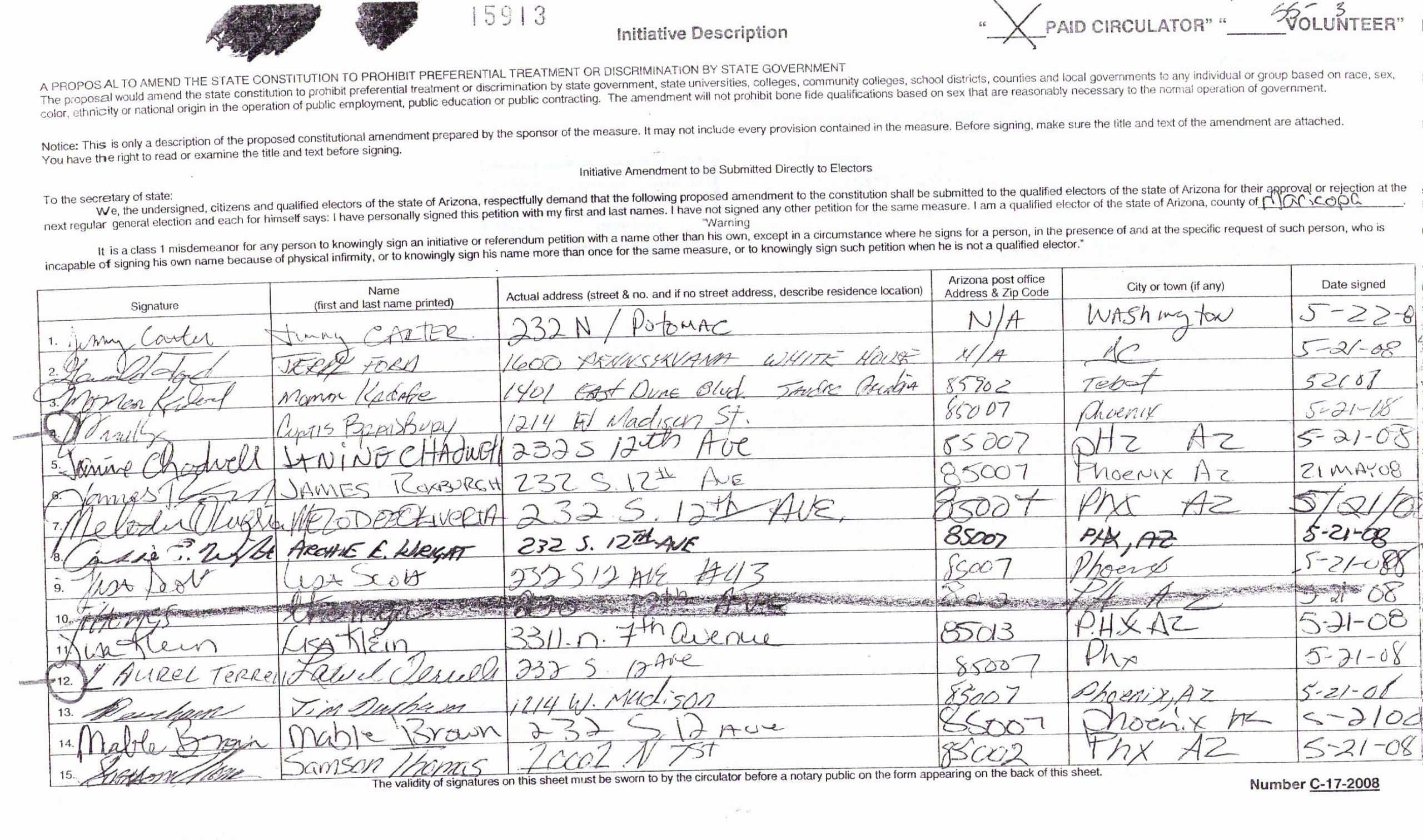 Aa Sign In Sheet with Signatures Unique Affirmative Action Ban Likely to Be Stripped From Arizona