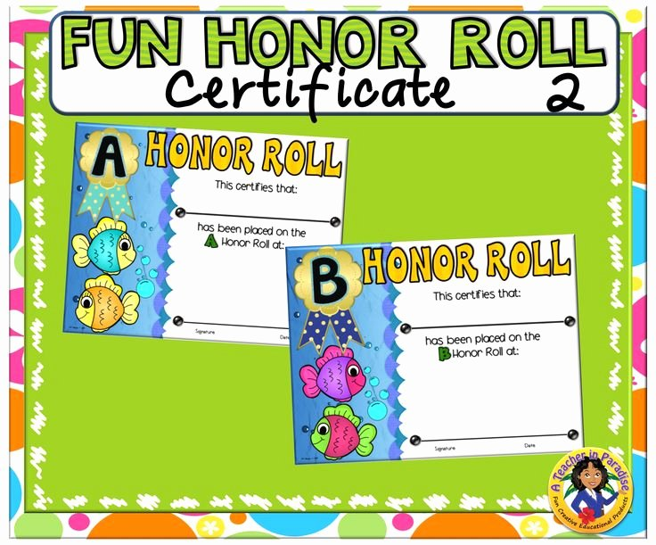 Ab Honor Roll Certificate Printable Awesome 17 Best Images About A Teacher In Paradise Certificates