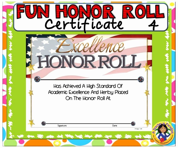 Ab Honor Roll Certificate Printable Beautiful 17 Best Images About A Teacher In Paradise Certificates