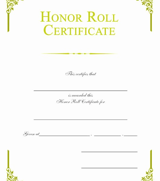 Ab Honor Roll Certificate Printable New Honor Roll – Page 2 – Wilson Awards