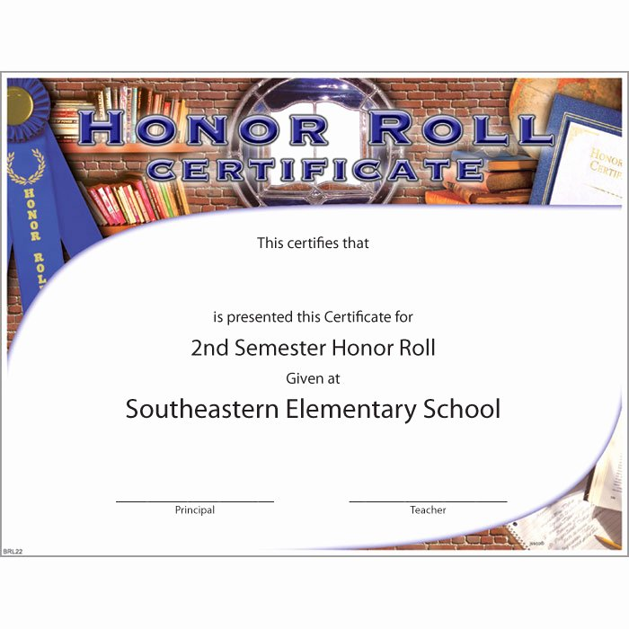 Ab Honor Roll Certificate Template Elegant Honor Roll Custom Certificate Jones School Supply