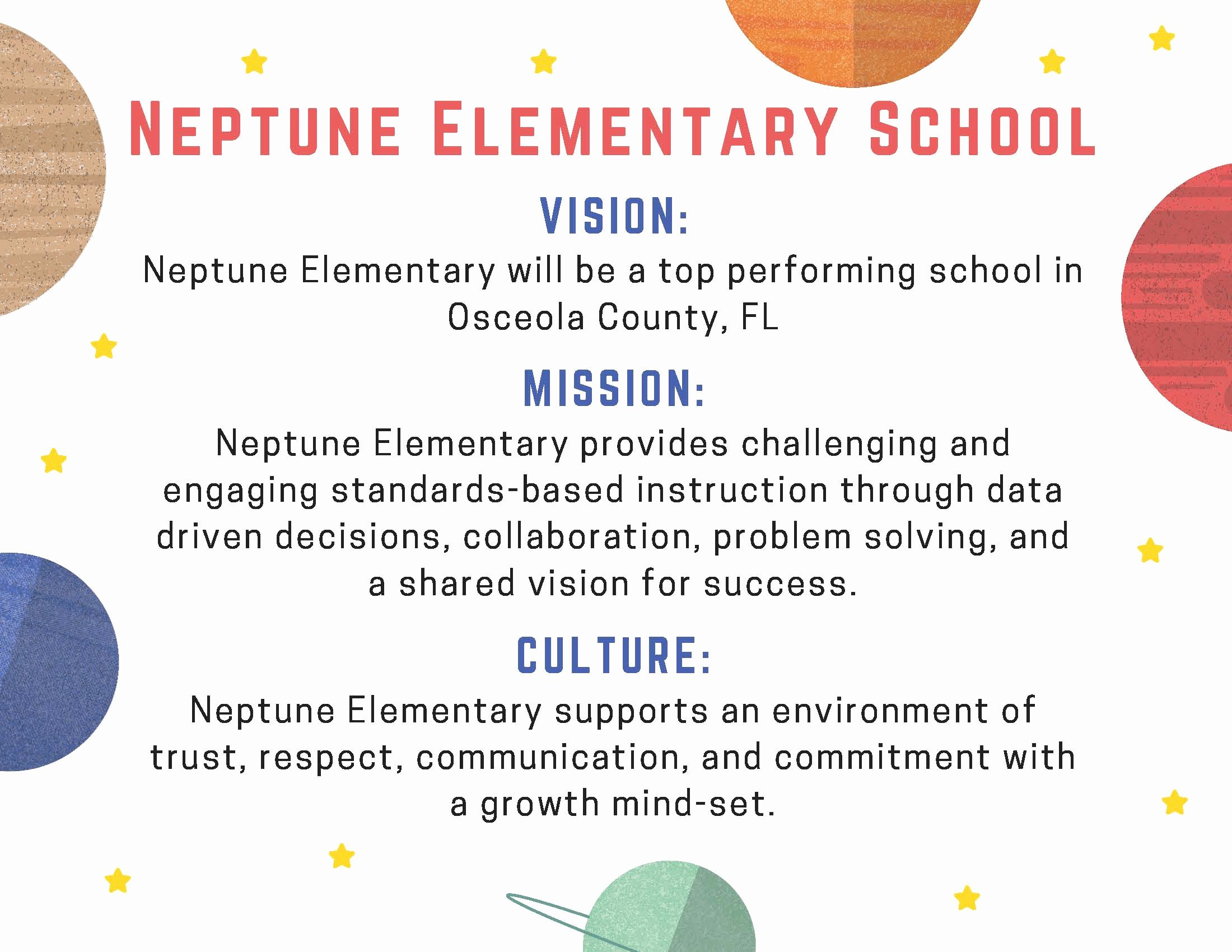 Academic Mission Statement Examples Elegant Home Neptune Elementary