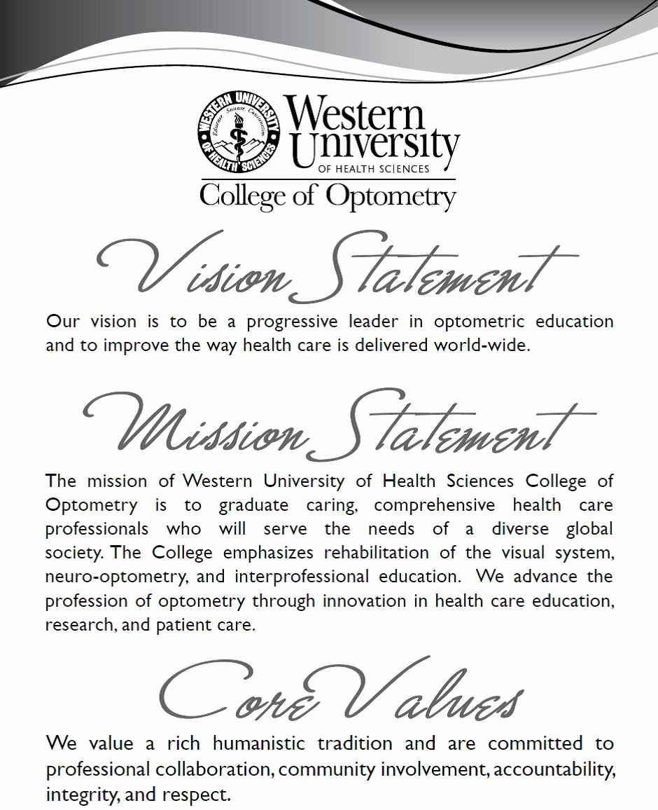 Academic Mission Statement Examples Fresh Vision Statement Mission Statement and Core Values