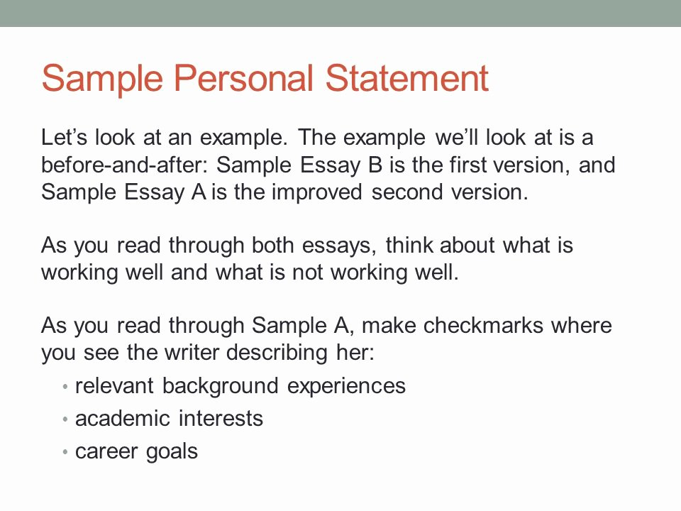 Academic Personal Statement Example Beautiful Personal Statement theme Examples