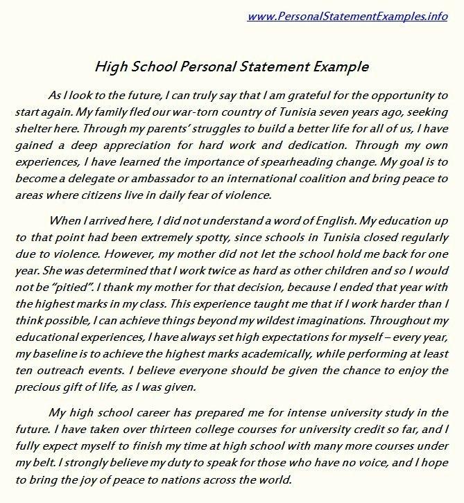 Academic Personal Statement Example Elegant 1000 Images About Personal Statement Sample On Pinterest