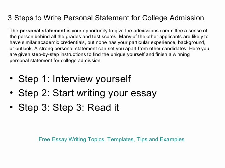 Academic Personal Statement Example Inspirational Personal Essays for College 24 7 Homework Help