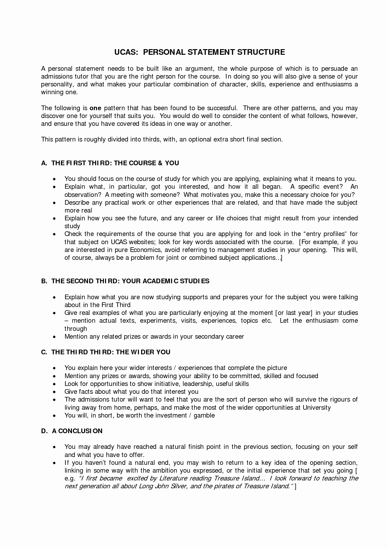 Academic Personal Statement Example Unique Personal Statement Template Ucas Google Search
