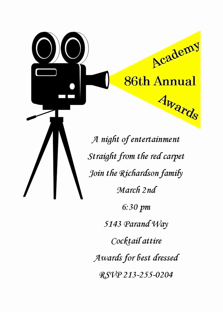 Academy Award Envelope Template Awesome 49 Best Oscar Academy Awards Party Invitations Images On