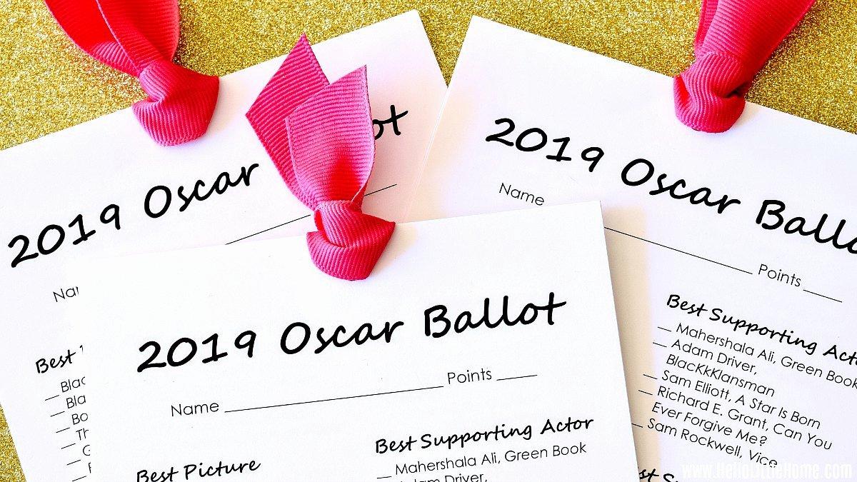 Academy Award Envelope Template Fresh Free Printable 2019 Oscar Ballot