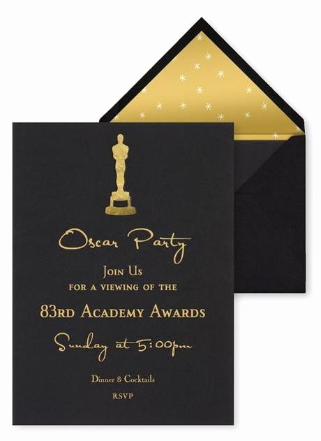 Academy Award Envelope Template Luxury Best Oscar Viewing Party Invitations Paperblog