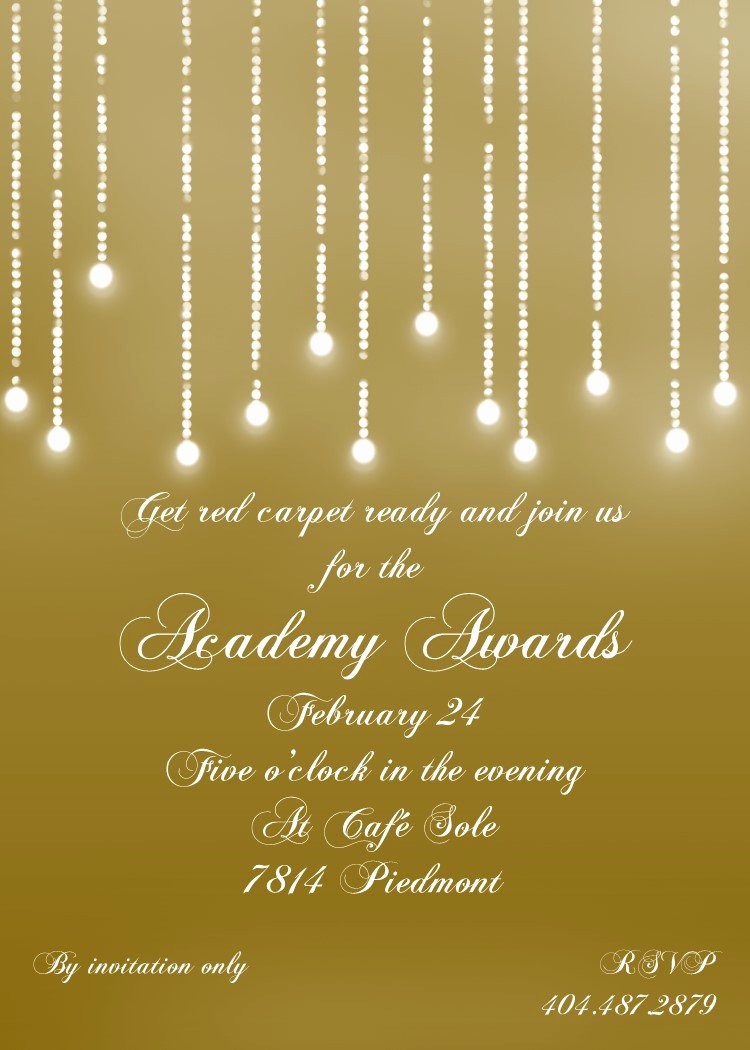 Academy Award Envelope Template Unique Academy Awards Party Invitations and Oscar Invitations New