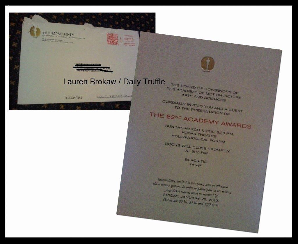 Academy Award Envelope Template Unique Wanna See An Academyawardsinvite Truffles