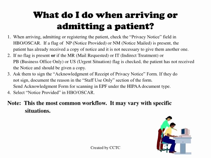 Acknowledgement Of Receipt Of Notice Of Privacy Practices form New Ppt Hipaa Notice Of Privacy Practices Powerpoint