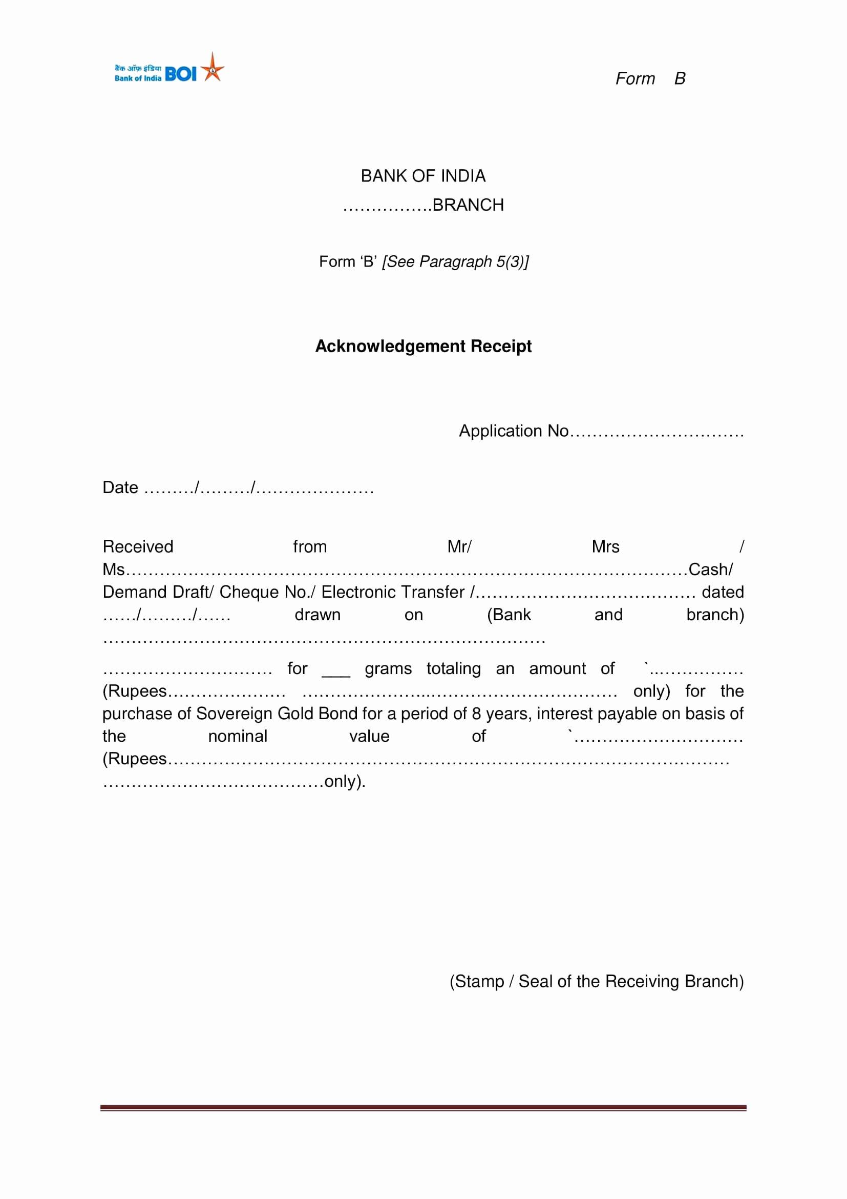 Acknowledgment Receipt Of Documents Luxury 9 Acknowledgment Receipt Examples Pdf