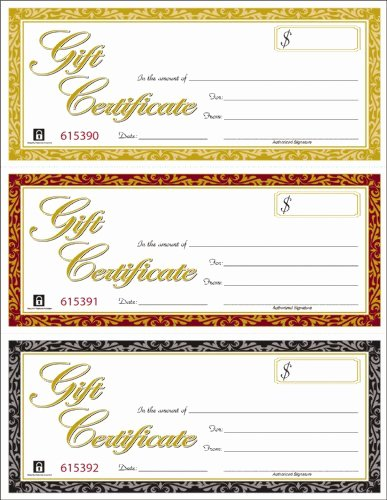 Adams Gift Certificate Template Beautiful Adams Gift Certificates Laser Inkjet Patible 3 Up 30
