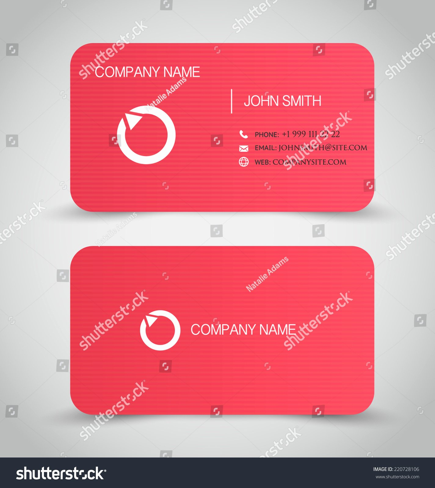 Adams Gift Certificate Template Inspirational Business Card Set Template Red Color Stock Vector