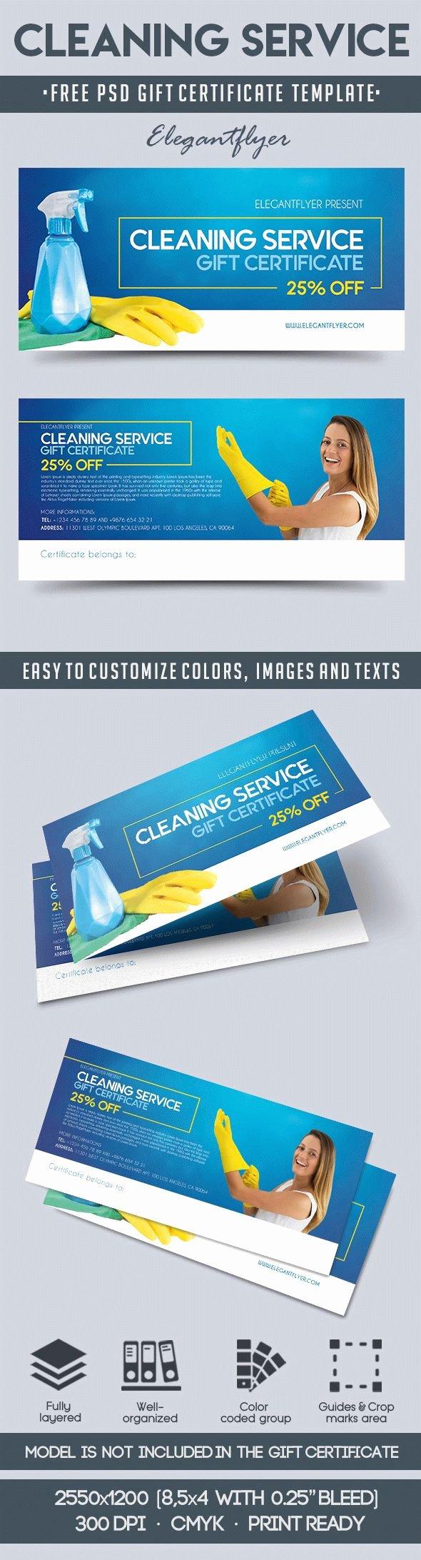 Adams Gift Certificate Template Word Luxury Cleaning Service – Free Gift Certificate Psd Template – by