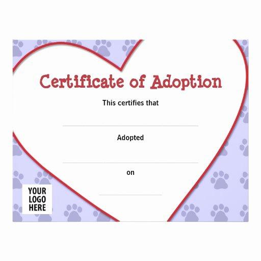 Adopt A Pet Certificate Template Inspirational Certificate Of Pet Adoption Custom Flyer
