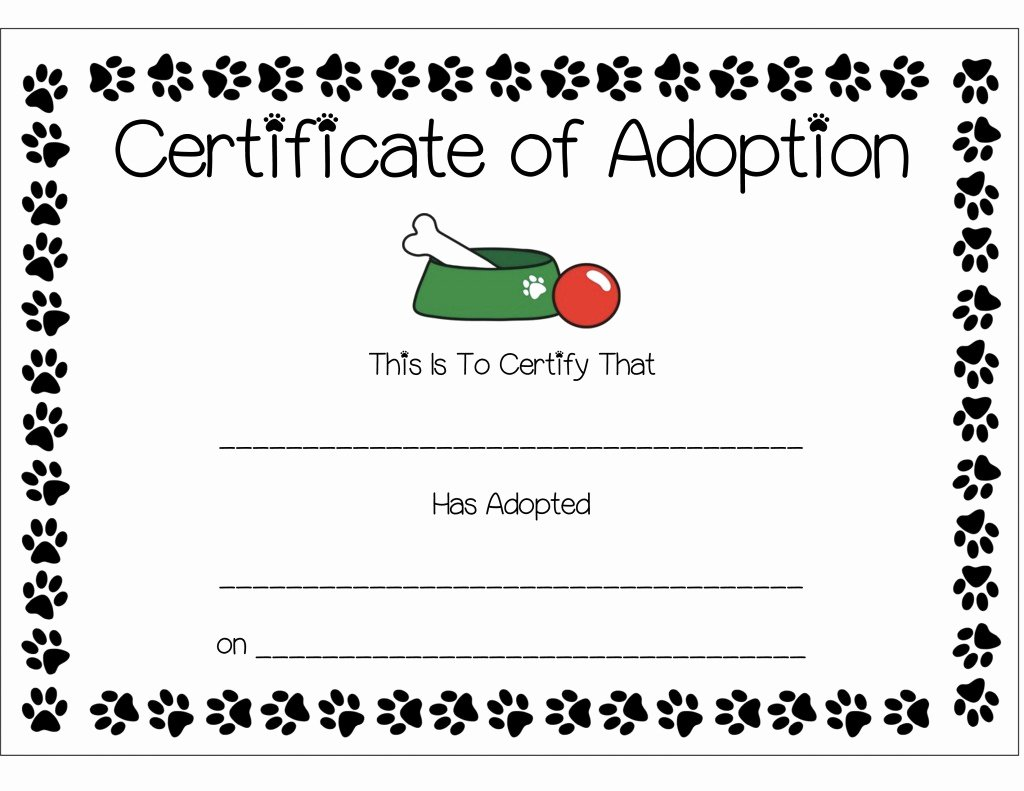 Adopt A Pet Certificate Template Lovely Nutella Puppy Chow Recipe and Anthony S Paw Patrol Puppy