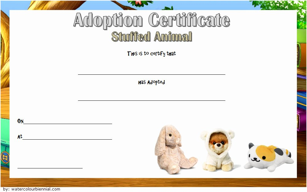 Adoption Certificate Template Word Best Of 7 Stuffed Animal Adoption Certificate Editable Templates