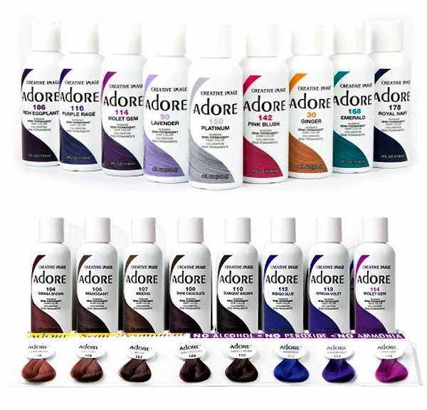 Adore Cellophane Hair Color Best Of Adore Shinning Semi Permanent Hair Color 4 Oz