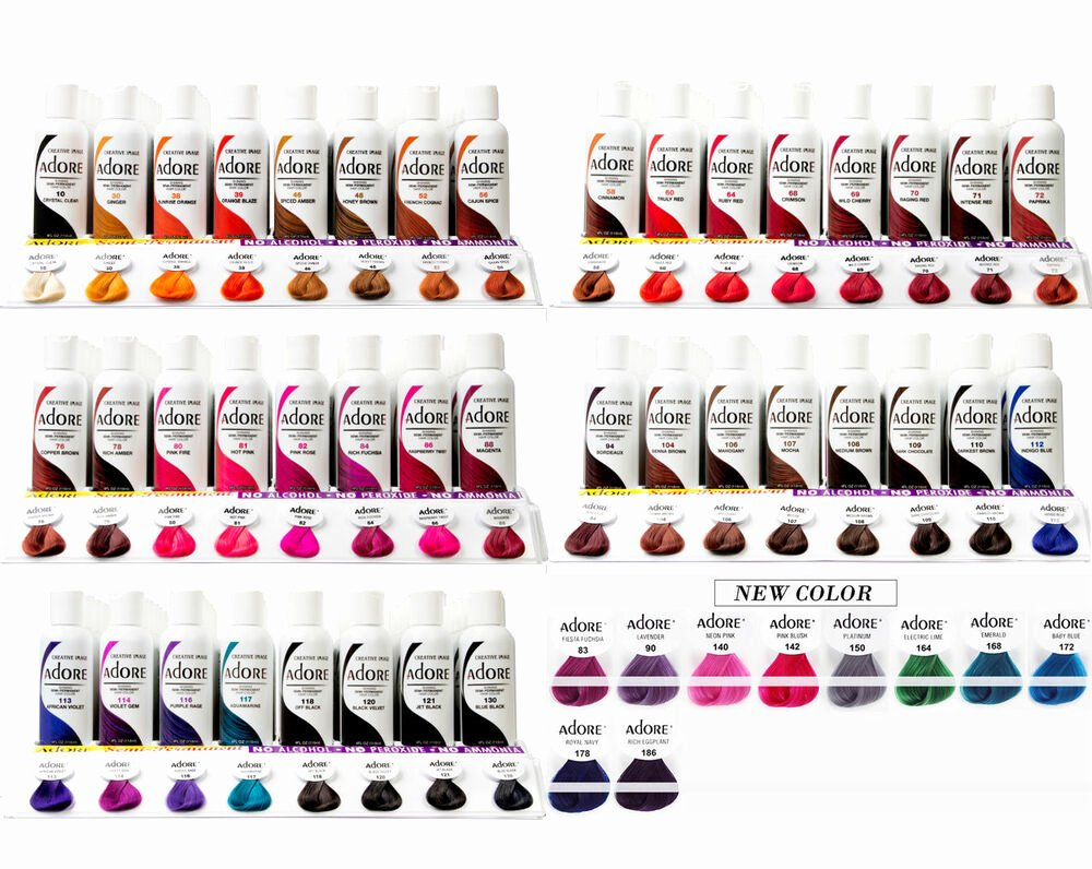 Adore Color Swatches Elegant Pin Ionpermanenthaircolortattoolovegallerytattoospictures