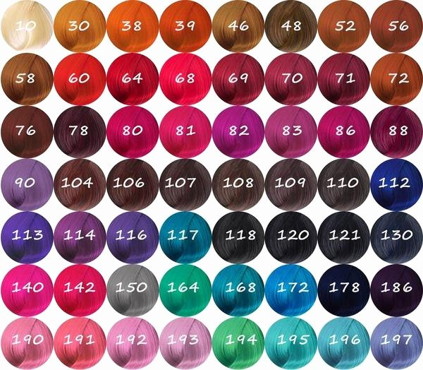 Adore Color Swatches Lovely Adore Semi Permanent Hair Color Hair Crown Beauty Supply