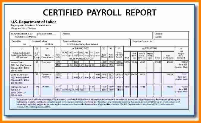 Aerotek Employee Pay Stubs Inspirational 5 Certified Payroll form