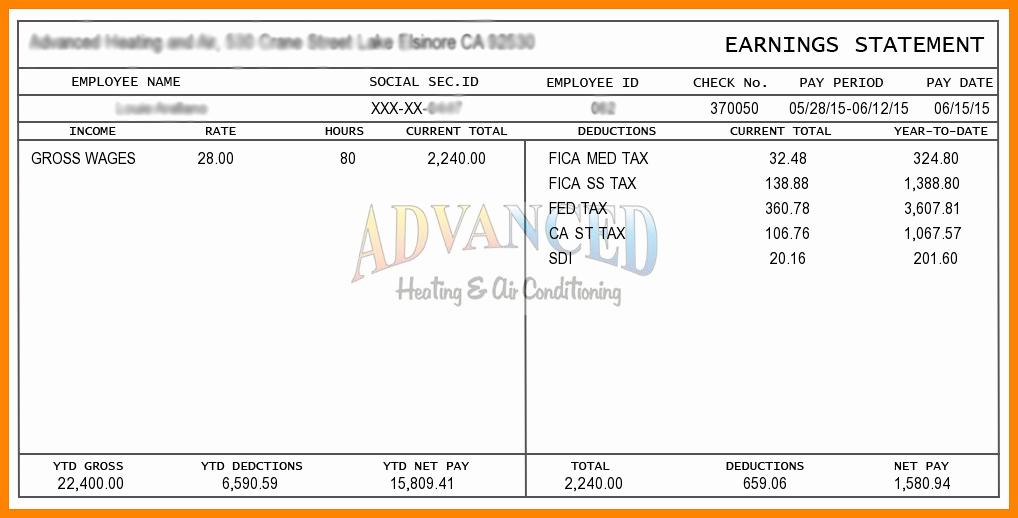 Aerotek Employee Pay Stubs Lovely 8 Example Of A Paycheck Stub