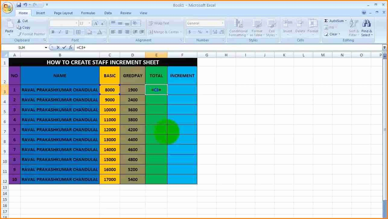 Aerotek Employee Pay Stubs Unique 5 Salary Increase Template Excel