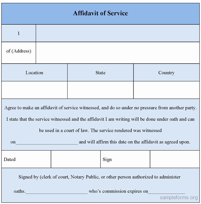 Affidavit Of Single Status Template Luxury Affidavit Of Service form Sample forms
