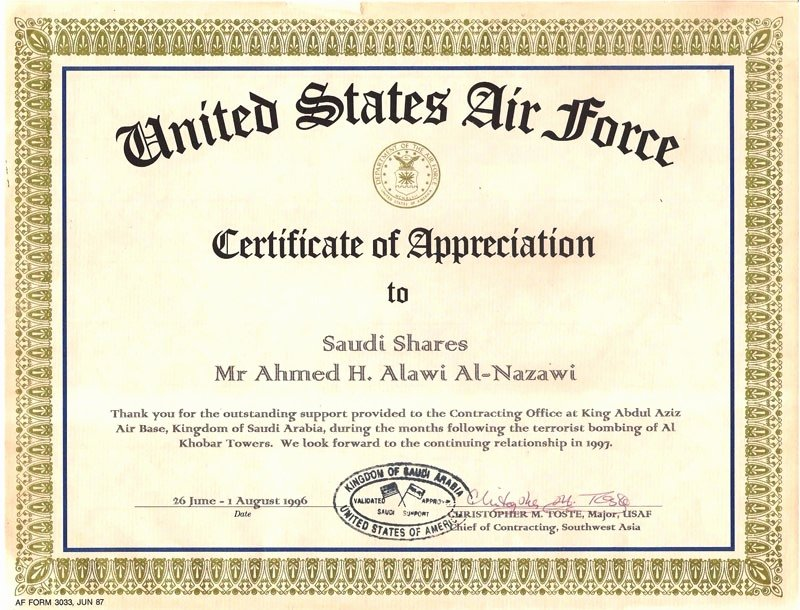 Air force Certificate Of Appreciation Template Beautiful Af form 3033 Certificate Appreciation Flowersheet