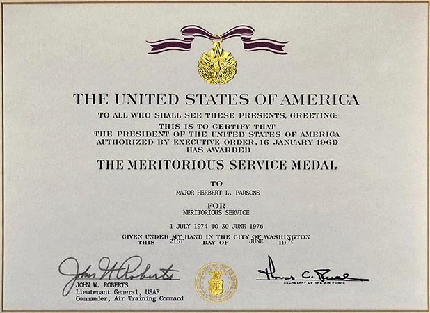 Air force Certificate Template Elegant Air force Meritorious Service Medal Template