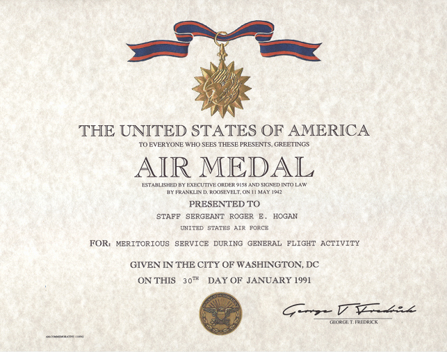 Air force Certificate Template Fresh Air Medal Certificate Replacement Award Certificate