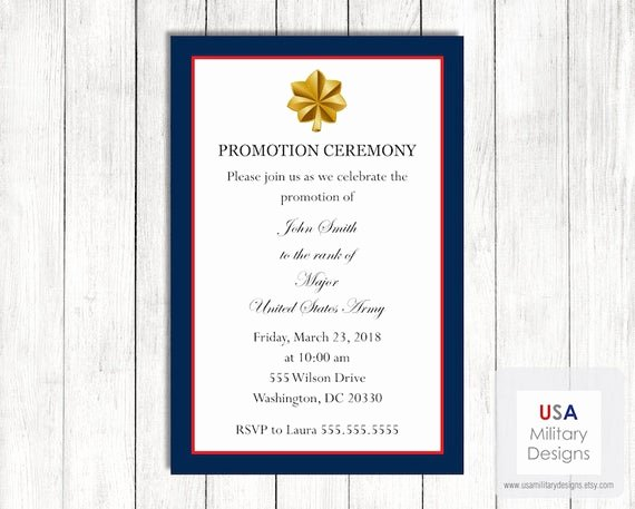 Air force Promotion Certificate Template Inspirational Army Promotion Invitation Template