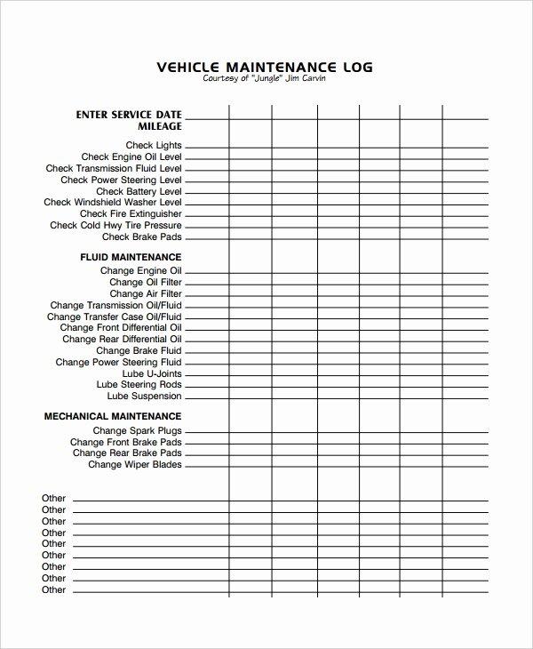 Aircraft Maintenance Logbook Entry Template Lovely Maintenance Log Template 12 Free Word Excel Pdf