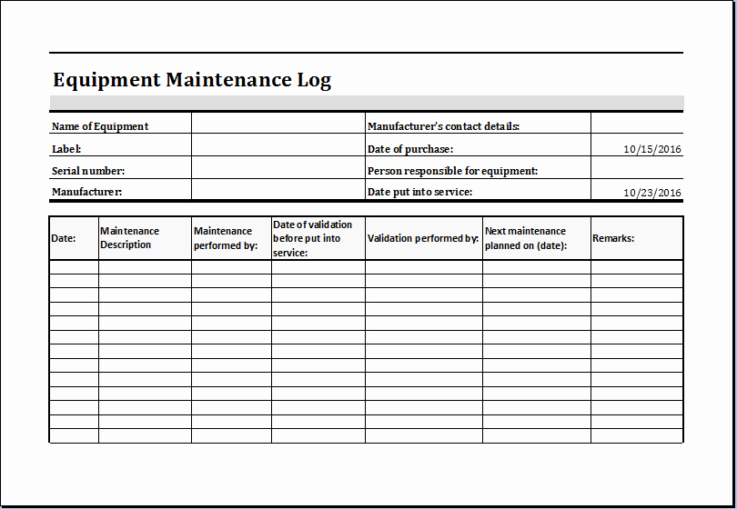 Aircraft Maintenance Logbook Entry Template New 20 Editable Worksheet Templates for Everyone S Use
