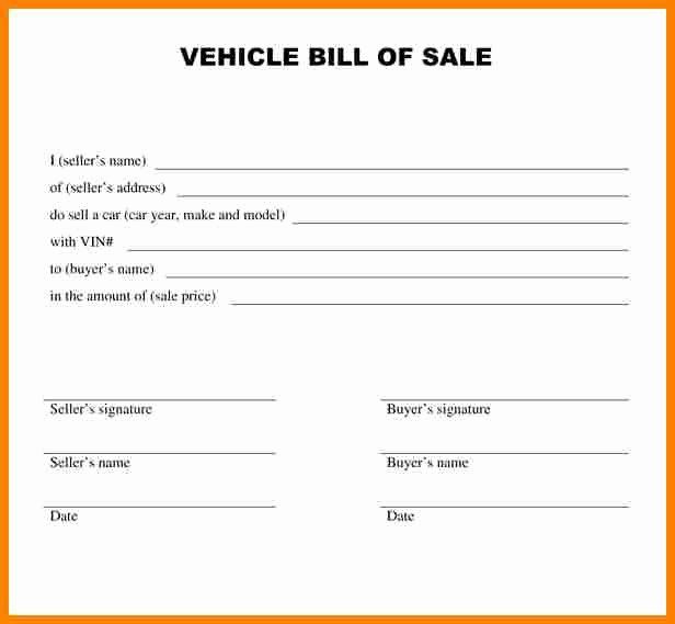 Alabama Bill Of Sale for Vehicle Inspirational 8 Bill Of Sale Alabama Car