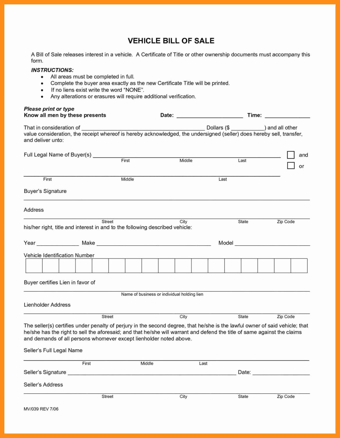 Alabama Bill Of Sale for Vehicle Luxury 11 12 as is Auto Bill Of Sale Template