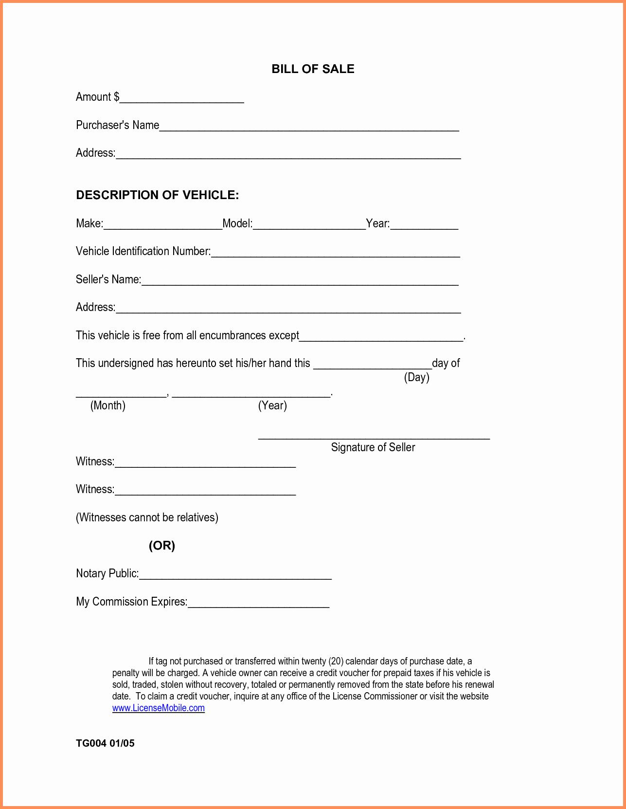 Alabama Car Bill Of Sale Elegant Auto Bill Sale Template