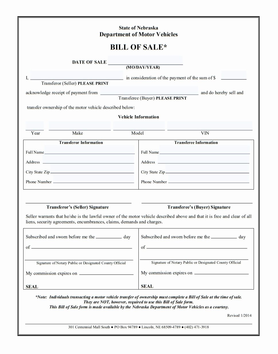 Alabama Car Bill Of Sale New Car Bill Of Sale Printable Pdf Template