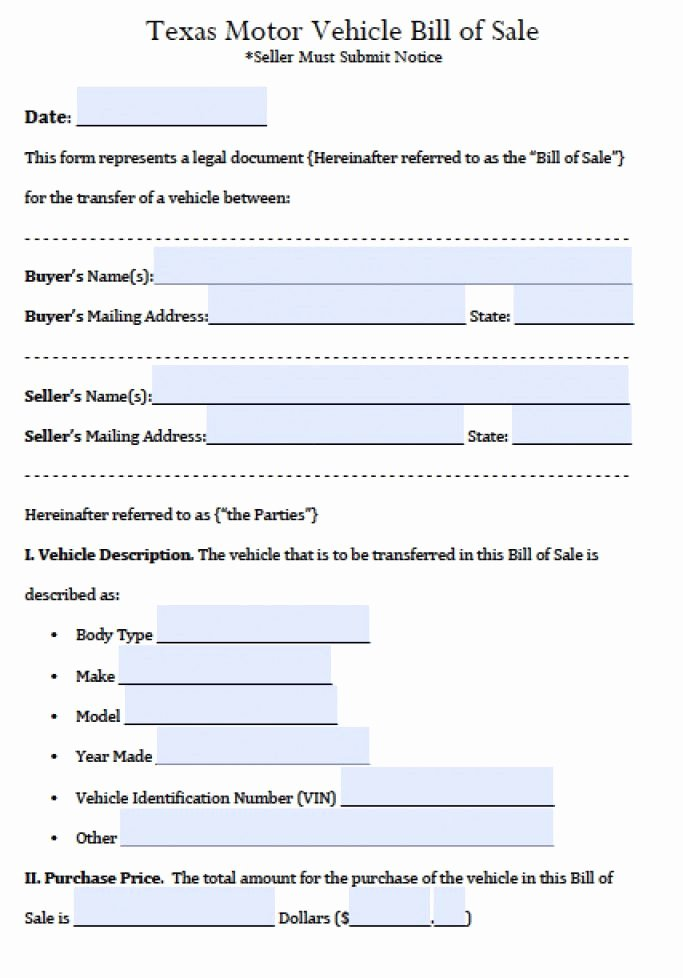 Alabama Vehicle Bill Of Sale Gift Awesome Texas Motor Vehicle forms Impremedia