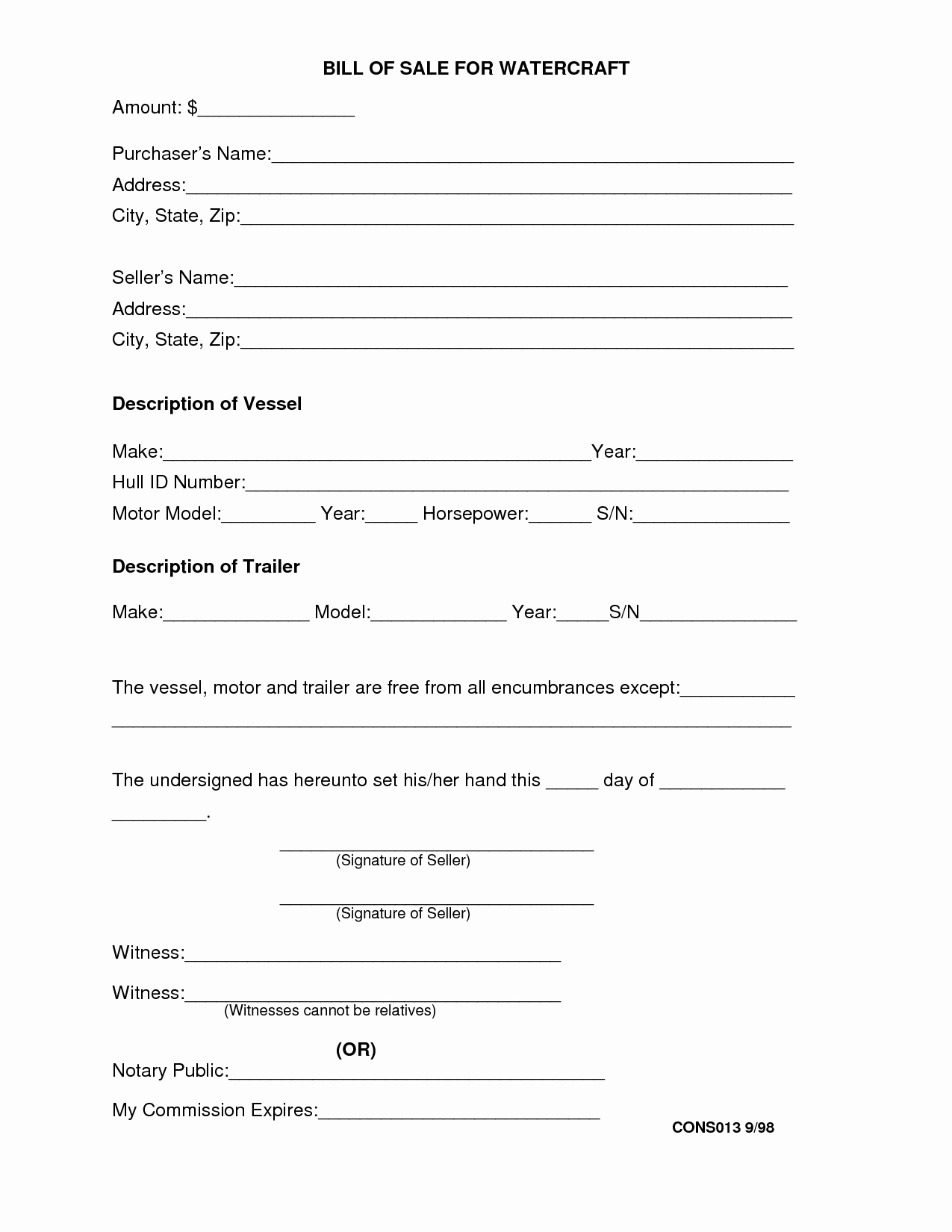 Alabama Vehicle Bill Of Sale Gift Unique Travel Trailer Bill Sale Free Printable Documents