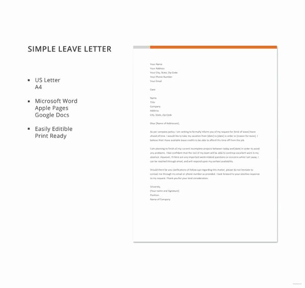 Alarm Certificate for Insurance Template Inspirational 42 Leave Letter Samples – Pdf Word Apple Pages