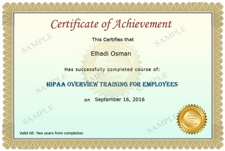 Alarm Certificate for Insurance Template Inspirational Health Care Employee Overview Training