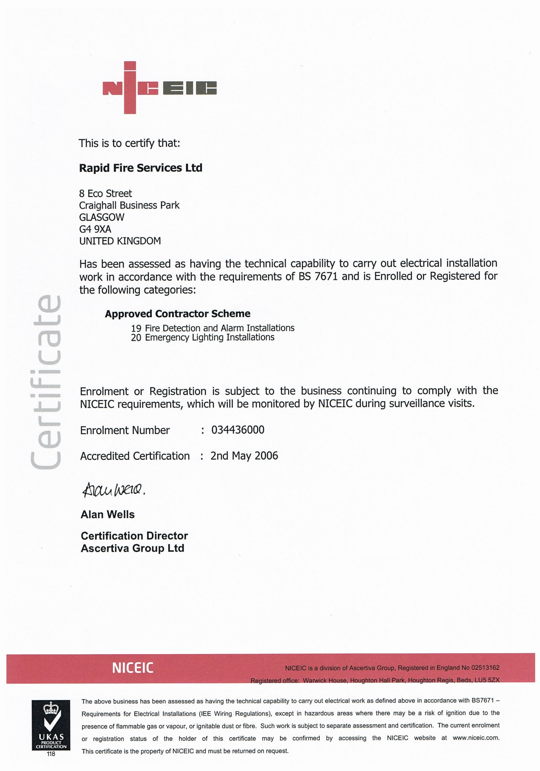 Alarm Certificate for Insurance Template New Service Maintenance