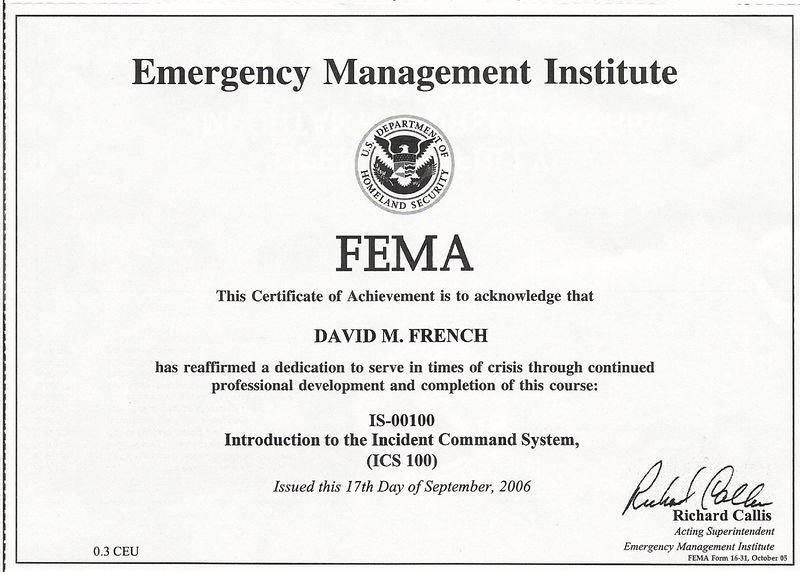 Alarm Monitoring Certificate Template Elegant is Introduction to the Incident Mand System