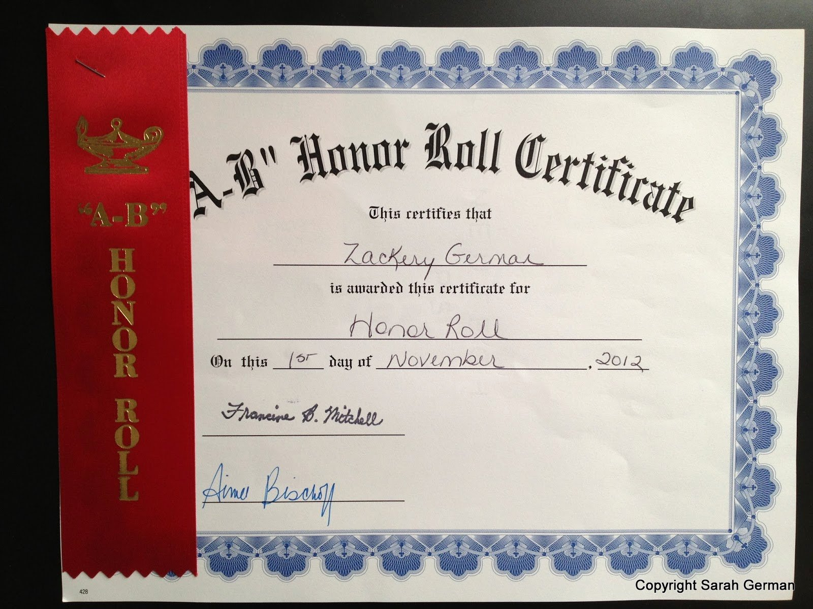 All A Honor Roll Certificate Beautiful A Brit In America Honor Roll & Terrific Kids Awards Ceremony